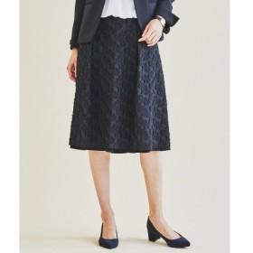 L size ONWARD(大きいサイズ) / エルサイズオンワード グラフィックカットジャカード スカート