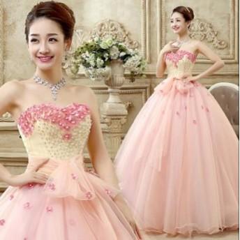 花柄 ロングドレス 演奏会 結婚式ドレス ウェディングドレス お呼ばれ ピアノ 発表会 フォーマルドレス 二次会 ミモレドレス