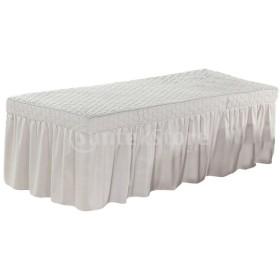 マッサージテーブルスカート美容ベッドカバーバランスシートグレー