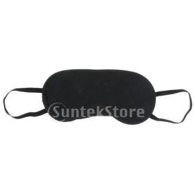 竹炭アイマスク通気性スリーピングマスク目隠しブラックメッシュ