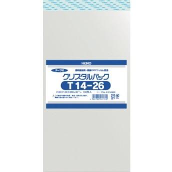 HEIKO OPP袋 テープ付き クリスタルパック T14 26