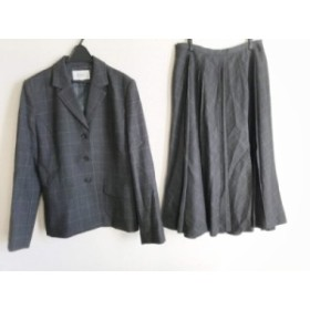ジユウク 自由区/jiyuku スカートスーツ サイズ38 M レディース ダークグレー×グレー チェック柄【中古】