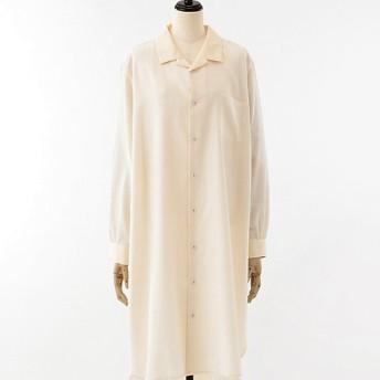 <akisaka/アキサカ> the design of sleep pajamas collection 【予約販売2月下旬お届け】pajamas long shirt (Aa-O001) キナリ 【三越・伊勢丹/公式】