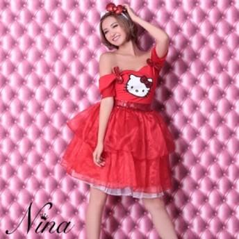 ハロウィン コスプレ 2019 Nina ニーナ コスプレ衣装 3点セット キャラクター ハロウィン キティちゃん 衣装 キティーちゃん コスチュー