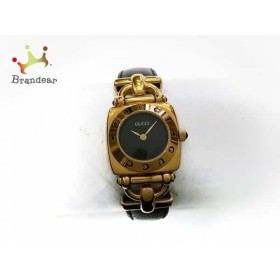グッチ GUCCI 腕時計 6300L レディース 革ベルト 黒  値下げ 20190217