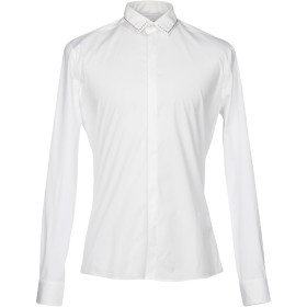 《期間限定 セール開催中》LES HOMMES メンズ シャツ ホワイト 46 コットン 96% / ポリウレタン 4%