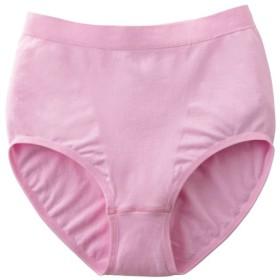 【レディース大きいサイズ】 ぐ-んと伸びてぴったりフィットするスタンダードショーツ(成型編み) ■カラー:ピンク ■サイズ:L