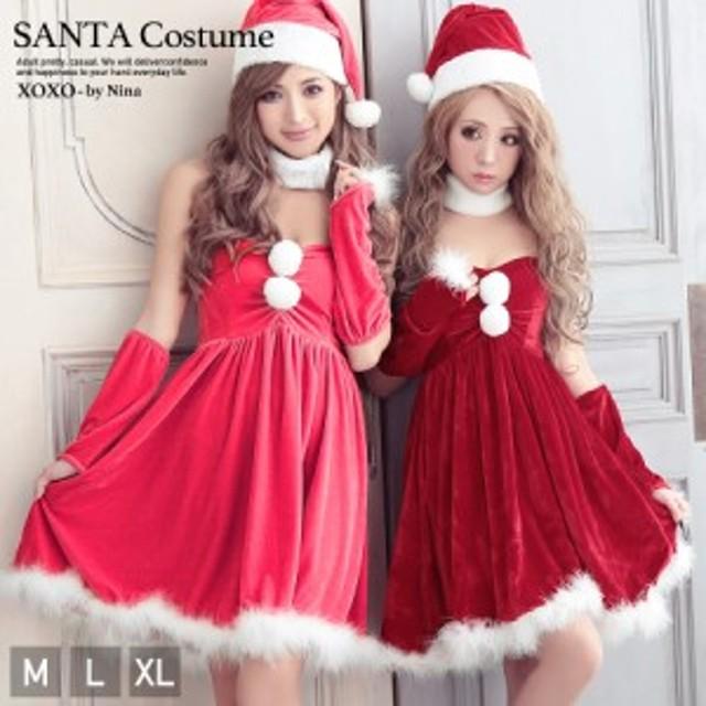 ec7cc2313eb サンタ コスプレ サンタコス ピンク 衣装 クリスマス 5点セット ふわふわフェザーサンタコスチューム