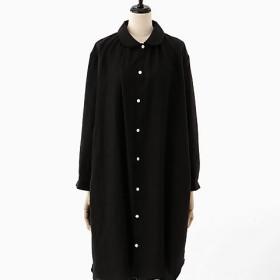 <akisaka/アキサカ> the design of sleep pajamas collection pajamas long shirt (Aa-O002) クロ 【三越・伊勢丹/公式】