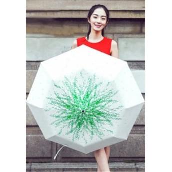 傘 プリント レディース ファッション 晴雨兼用 超軽量 折りたたみ傘 遮光 防風 黒膠 日焼け防止 UVカット シンプル 日傘 雨傘 傘