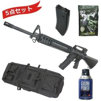 【大特価!】S&T M16A4 M5RAS ガスブローバック スポーツライン BK【スペシャル5点セット】