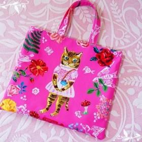 【受注製作】「ナタリーレテ『Cat in pink』トートバッグ
