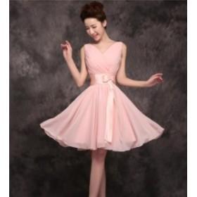 ブライズメイドドレス ファッション リボン パーティードレス 結婚式ドレス ブライダル 着心地よい ハイセンス セール★ レディースドレ