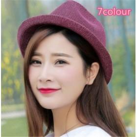 レディース帽子 UVカット 紫外線対策 ジャズ 無地 つば広 ファッション 日よけ ハイセンス アウトドア 着心地いい ソフトレディース帽子