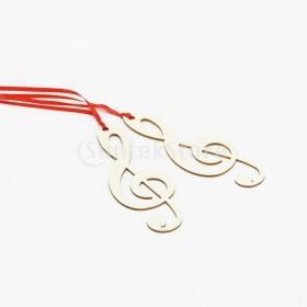 ロープ結婚式を支持する20個の木製音楽記号ブックマークブライダルシャワー