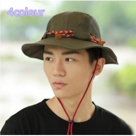 メンズ帽子 UVカット 紫外線対策 レジャー カラー糸  つば広 ハイセンス 日よけ ファッション アウトドア 着心地いい セール 夏 メンズ帽