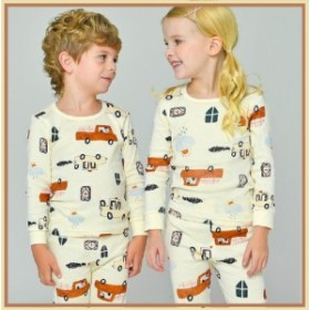 ※送料無料※【あるこんたるこん】パジャマ ブーブー 綿100% 男の子 女の子 秋 冬 薄手 ベビー キッズ ジュニア ルームウェア