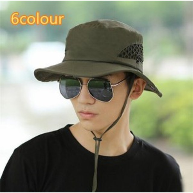 メンズ帽子 UVカット 紫外線対策 シンプル つば広 通気 ハイセンス 日よけ ファッション アウトドア 着心地いい セール 夏 メンズ帽子