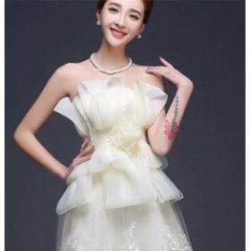 ブライズメイドドレス ファッション パーティードレス 結婚式ドレス ブライダル 着心地よい ハイセンス セール★ レディースドレス
