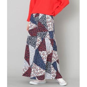 SENSE OF PLACE(センスオブプレイス) スカート スカート パッチワークフラワープリントロングスカート