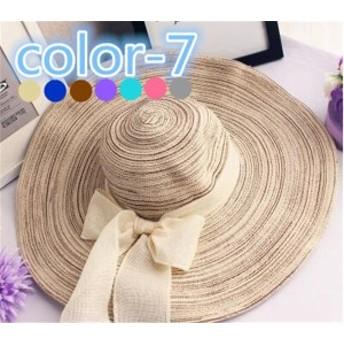 レディース帽子 シンプル 麦わら リボン UVカット 紫外線対策 日よけ ファッション ハイセンス アウトドア 着心地いい 夏 レディース帽子