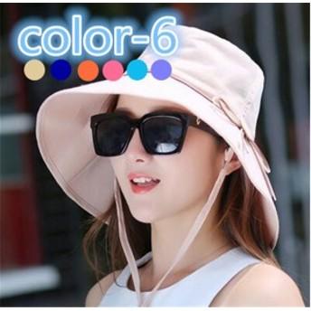 レディース帽子 シンプル リボン つば広 UVカット 紫外線対策 日よけ ファッション ハイセンス アウトドア 着心地いい 夏 レディース帽子