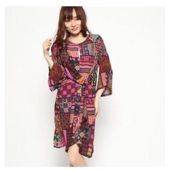 デシグアル Desigual ドレス3/4袖 (マルチ)