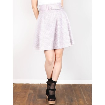 [dazzlin]【E】スプリングツイードスカート