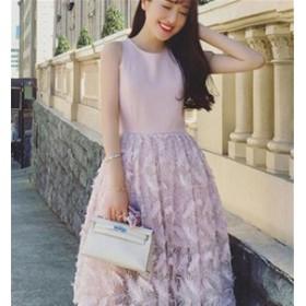 ブライズメイドドレス ファッション パーティードレス フェザー 結婚式ドレス ブライダル 着心地よい ハイセンス レディースドレス
