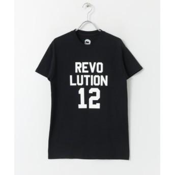 SENSE OF PLACE(センスオブプレイス) トップス Tシャツ・カットソー REVOLUTIONTシャツ(5分袖)