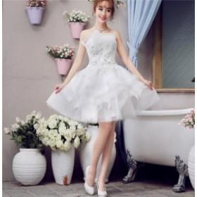 ブライズメイドドレス ファッション パーティードレス バルーン 結婚式ドレス ブライダル 着心地よい ハイセンス セール レディースドレ