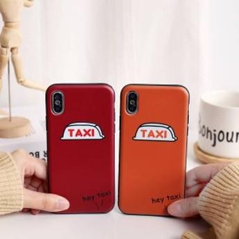 カップル スマホケース TAXI シリコーン オシャレ iPhoneXR iPhoneXS Maxケース iPhoneXS/X/7p/8p iPhone7/8ケース 全機種対応