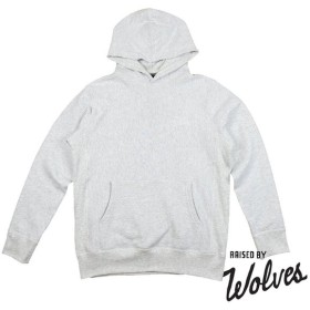 【RAISED BY WOLVES/レイズドバイウルブス】VINTAGE VARSITY HOODED SWEATSHIRT パーカー / HEATHER ASH FLEECE