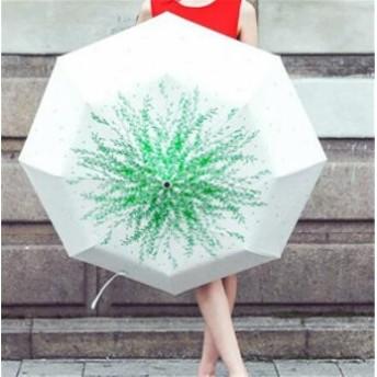 傘 レディース ファッション 柳の葉 晴雨兼用 超軽量 三折りたたみ傘 遮光 防風 レディース 日傘 雨傘 黒膠 日焼け防止 UVカット 傘