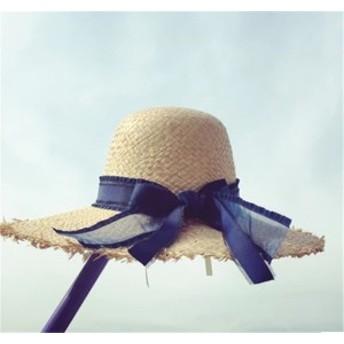 レディース帽子 UVカット 紫外線対策 シンプル 麦わら リボン ファッション 日よけ ハイセンス アウトドア 着心地いい レディース帽子