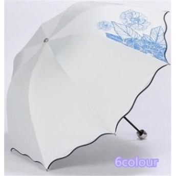 傘 レディース ファッション ハイセンス 晴雨兼用 超軽量 三折りたたみ傘 遮光 防風 レディース 日傘 雨傘 黒膠 UVカット 傘