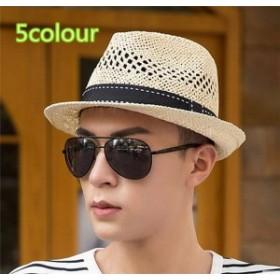 メンズ帽子 UVカット 紫外線対策 シンプル つば広 麦わら ハット 上質 日よけ ファッション アウトドア 着心地いい セール 夏 メンズ帽子