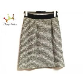 インディビ INDIVI スカート サイズ36 S レディース 美品 白×黒      値下げ 20190515