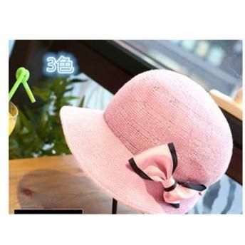 レディース帽子 UVカット 紫外線対策 シンプル ファッション 日よけ つば広 リボン 新作 アウトドア かわいい ソフトレディース帽子