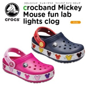 クロックス(crocs) クロックバンド ミッキー ファン ラブ ライツ キッズ(kids crocband mickey fun lab lights clog)[C/A]