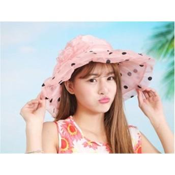 レディース帽子 UVカット 紫外線対策 シンプル ファッション 日よけ つば広 ハイセンス アウトドア かわいい ソフトレディース帽子