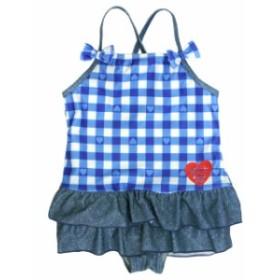 ワンピース 水着 キッズ 女の子 子供 スイミング スカート付き ワンピ UVカット 子供水着 845597
