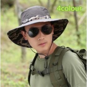 メンズ帽子 UVカット 紫外線対策 レジャー つば広 ミリタリー 上質 日よけ ファッション アウトドア 着心地いい セール 夏 メンズ帽子