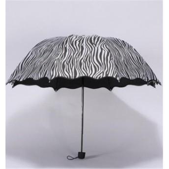 傘 レディース ファッション 豹柄 晴雨兼用 超軽量 三折りたたみ傘 遮光 防風 レディース 日傘 雨傘 黒膠 日焼け防止 UVカット 傘