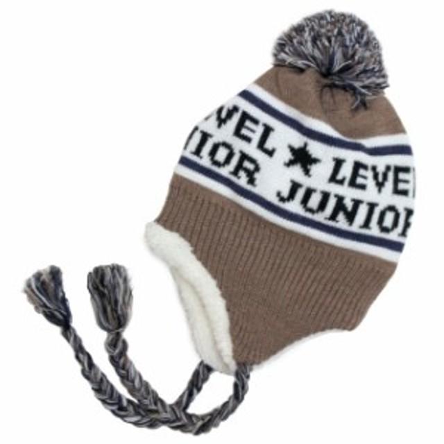 b588321b41fce ニットキャップ 女の子 キッズ ジュニア 子供用 裏ボア ポンポン付き ニット帽 耳あて 防寒