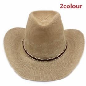 メンズ帽子 UVカット 紫外線対策 シンプル つば広 無地 カウボーイ 上質 日よけ ファッション アウトドア 着心地いい セール 夏 メンズ帽
