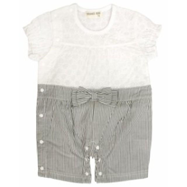 35976d6e4c156 ロンパース 夏服 ベビー 女の子 綿100% 半袖Tシャツ&パンツ カバーオール ギフト 出産祝