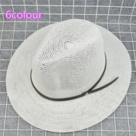 メンズ帽子 UVカット 紫外線対策 シンプル つば広 麦わら ハット 日よけ ファッション アウトドア 着心地いい セール 夏 メンズ帽子