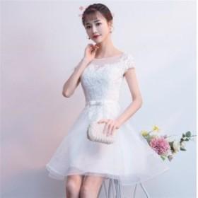 パーティードレス 結婚式ドレス 花柄 成人式 披露宴 食事会 ウエディングドレス大人 卒業式 お呼ばれ 上品 ミニドレス 二次会