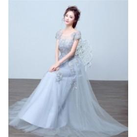 ブライズメイドドレス ファッション パーティードレス 花柄 結婚式ドレス ブライダル 着心地よい ハイセンス セール★ レディースドレス